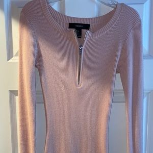 Bodycon ribbed baby pink forever 21 dress